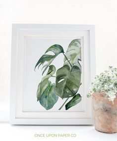 Botanical leaf print in watercolor.  WHATS INCLUDED 6 Large Files 300dpi in the following sizes.  A 1x1 Ratio file square 50cmx50cm or any combination. A 2x3 Ratio file 50x75cm 30x45cm 4x6 6x9 8x12 10x15 16x24 A 3x4 Ratio file 30x40cm 6x8 9x12 12x16 18x24 A 4x5 Ratio file 40x50cm 4x5 8x10 16x20 A Large Art Prints, Leaf Prints, Wall Art Prints, Ficus Elastica, Watercolor Leaf, Watercolour Painting, Cactus Photo, Cheap Wall Art, Wedding Painting
