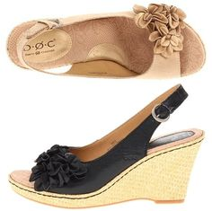 "b.o.c. – Hotsky: $54.99, 35% off! (normally 85.00)    Fabulous style is only a Hotsky and a jump away. Full-grain leather upper. Open toe with floral details at side. 3 1/2"" heel with 3/4"" platform"