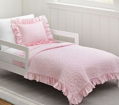 Ruffle Toddler Quilted Bedding #pbkids Pottery Barn!