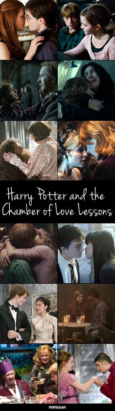 There are various romantic pairings that slowly develop over the course of the series, and there is, of course, the love of Harry's mother that steers the entire plot. So using GIFs and quotes from the movies and books, I'm sharing 32 of the best love lessons J.K.'s series has taught us about the magic of love.