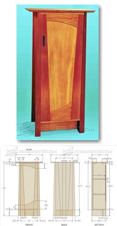 Cabinet Plans - Furniture Plans and Projects | WoodArchivist.com