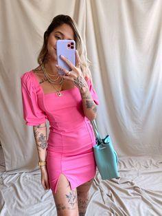 Modern Fashion, Diy Fashion, Ideias Fashion, Fashion Looks, Womens Fashion, Slip Dress Outfit, Dress Outfits, Fashion Dresses, Simple Outfits
