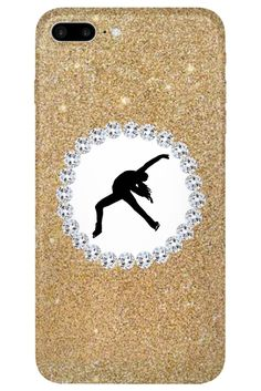 Figure Skating Phone Case Glitter and Rhinestone – Purposely Designed