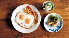 日本人の朝ご飯 『民宿ハマダ』特製 目玉焼き定食