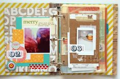 i love the way ann-marie uses color & layering #scrapbooking