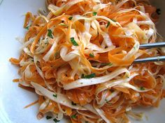 raw carrot and parsnip salad