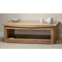 Tokyo Natural Solid Oak Large Coffee Table