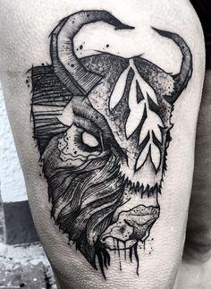 Gaston Tonus buffalo tattoo