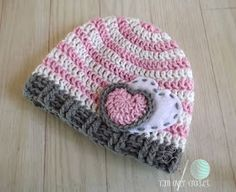 Crochet pattern for baby beanie. So cute!