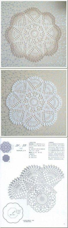 Resultado de imagem para doily flower diagram