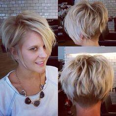 Best Short Haircuts for Fine Hair - Hair Cut Popular Short Hairstyles, Best Short Haircuts, Popular Haircuts, A Line Haircut Short, Messy Haircut, Modern Haircuts, Haircuts For Fine Hair, Cute Hairstyles For Short Hair, Short Hair Cuts For Women