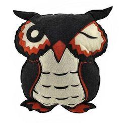 Felt Owl Throw Pillow