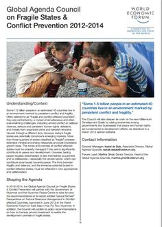 The Global Agenda Council's report on fragile states and conflict prevention,  2012 - 2014  #wef #wefreport