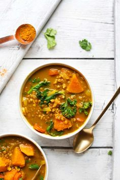 Curried Potato & Lentil Soup (1 Pot!)