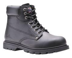 Scarpa alta boot trucker in pelle nera VIGILANZA MILITARE TASK FORCE