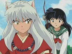 InuYasha looking back at Kagome - screenshot from InuYasha Inuyasha Fan Art, Kagome And Inuyasha, Miroku, Kagome Higurashi, Otaku, Fairy Tail, Tiger And Bunny, Tokyo Mew Mew, Shugo Chara