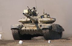 """T-90S """"Bhishma"""" - variant of the T-90S for the army of India. The tank is missing spotlights OTSU """"Blind"""", instead, they installed additional blocks integrated dynamic protection. Radiation detectors..."""