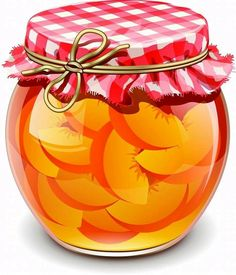 canned fruits in glass jars vector Food Clipart, Peach Jam, Fruit Jam, Jam Jar, Food Illustrations, Cute Food, Recipe Cards, Fruits And Veggies, Gelato