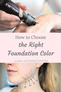 How to choose the right foundation color. ☆ So findest du genau die richtige Farbe für deinen Hauttyp.  Foundation, makeup, make-up, tutorial, farbwahl, beauty, beautyblog, schminken, deutsch, look, styling, makeup gesicht, foundation richtig auftragen.