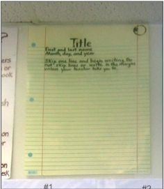 Teaching Students to Write Their Names on Their Papers | The Cornerstone