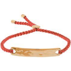 Monica Vinader Poppy Red Havana Gold-Plated Friendship Bracelet ($130) ❤ liked on Polyvore