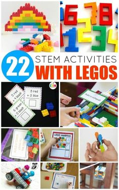 LEGOs have stood the test of time. Even with competing video and computer games, most kids still love building with bricks. These fun LEGO STEM activities give children hands-on practice with science, technology, engineering, and math – skills they'll rely on for years to come. Kids will have a blast with these LEGO STEM activities! They're perfect for pre-kindergarten through elementary school. Use these LEGO activity ideas to inspire
