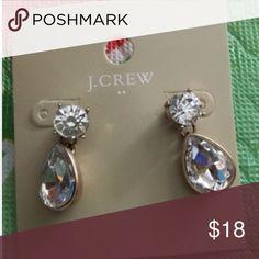 💚New Arrival💚 Tear Drops Earrings New J. Crew Tear Drops Earrings.  Glass stones and black ox plated. J. Crew Jewelry Earrings