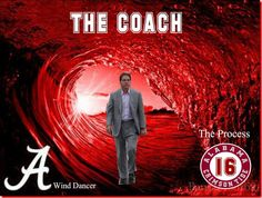 Coach Nick Saban In Crimson Wave Crimson Tide Football, Alabama Crimson Tide, Alabama Football Quotes, Football Coaches, Wind Dancer, Alabama Shirts, Nick Saban, University Of Alabama, Roll Tide