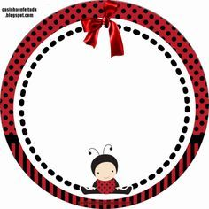 Casinha de Criança: Kit Chá de Bebê Joaninha Para Imprimir Grátis Baby Ladybug, Ladybug Party, Bug Crafts, Crafts For Kids, Paper Crafts, Cumpleaños Lady Bug, Red Classroom, Cute Frames, Birthday Thank You
