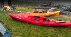 Grey and Alex's kayaks