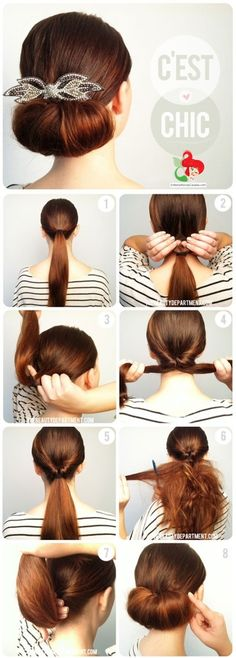 hair styles for long hair hair tutorial Pretty Hairstyles, Easy Hairstyles, Latest Hairstyles, Easy Elegant Hairstyles, Simple Hairdos, Easy Wedding Guest Hairstyles, Easy Updos For Long Hair, Perfect Hairstyle, Short Hair Simple Updo