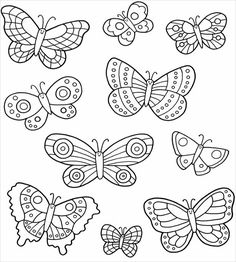 Butterfly Coloring Pages for Kids. 50 Free Printable butterfly Coloring Pages for Kids. Free Line Printable Kids Colouring Pages Baby butterfly Colouring Pages, Adult Coloring Pages, Coloring Books, Coloring Sheets, Kids Colouring, Free Coloring, Embroidery Patterns, Hand Embroidery, Felt Patterns