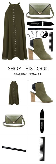 """Green Queen"" by spellrox ❤ liked on Polyvore featuring Topshop, Sole Society, Max Factor and GHD"