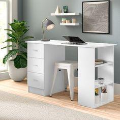 Symple Stuff Jewelry Cabinet with Mirror   Wayfair.co.uk Storage Shelves, Storage Spaces, Space Saving Desk, Buy Desk, Solid Wood Desk, Floating Desk, Secretary Desks, L Shaped Desk, Cabinet Drawers