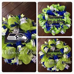 Seattle Seahawks NFL Decomesh Green Blue by TheWhimsicalDoor, $60.00