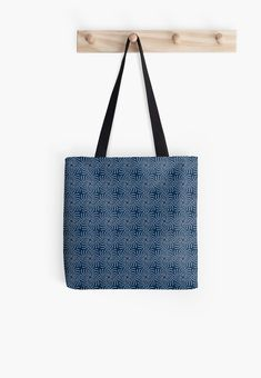 Simple Blue Medallion in close repeat format, inspired by African Shweshe patterns Printed Tote Bags, Cotton Tote Bags, Large Bags, Small Bags, Traditional Artwork, Blue Accents, William Morris, Aesthetic Vintage, Indigo Blue