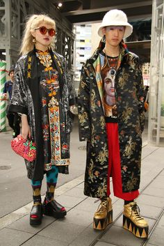 Friends In Street Style.Tokyo Fashion Week Fall 2015. [Photo by Onnie A. Koski]