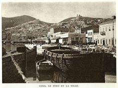 Συρος 1920 Old Pictures, Old Photos, Syros Greece, Athens, Paris Skyline, Islands, Nostalgia, Landscapes, The Past