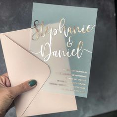 "One Fine Day on Instagram: ""Why not branch out from paper and try these transparent invites with metallic writing? We love keen couples that are game to try different…"" Polka Dot Paper, Polka Dots, 1st Birthdays, Place Card Holders, Ticket Invitation, Fiestas, Mariage, Invitations, 1st Year Birthday"