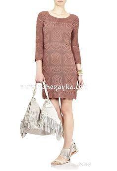 Платье спицами по шетландским мотивам. Красивое платье ажурным шетландским узором | Я Хозяйка