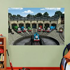 1000 images about thomas the train decor for bryce 39 s room. Black Bedroom Furniture Sets. Home Design Ideas
