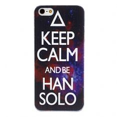 """Case  """"Keep Calm and be Han Solo"""" - Star Wars (Iphone 5 e 5s)"""
