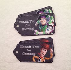 10 - Toy Story Buzz Lightyear Woody Chalkboard Party Favor Gift Tags Birthday Party Favor Tiy Story Party Supplies on Etsy, $10.00