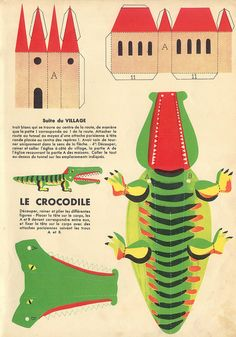 Castle and crocodile, what a lovely combo.