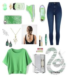 """Casual Slytherin Outfit"" by ravenclaw103 ❤ liked on Polyvore featuring River Island, Converse, Dolce&Gabbana, Proenza Schouler, Pixi, Eos, Yves Saint Laurent, Anne Sisteron, Alexis Bittar and Casetify"