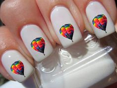 Hot Air Balloon nail decals.  They are gorgeous. by NailStatement, $3.50
