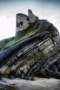 Fortress ruins in Ireland