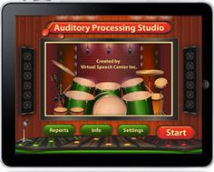 Auditory Processing Studio was created by a certified speech and language pathologist for adults and children ages 7 and up who exhibit Central Auditory Processing Disorder or other auditory processing disorders. This research-based app implements the bottom-top approach to treatment of auditory processing disorders and focuses on improving auditory processing through auditory discrimination, auditory closure, and phonological awareness activities.