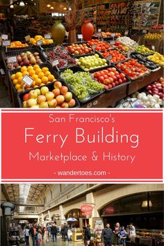 San Francisco, USA: The Ferry Building, San Francisco's historic landmark, draws tourists and locals alike to highly rated restaurants and delicious artisanal shops. Enjoy a peek inside and great information on it's current use and fascinating history. | San Francisco Ferry Building Marketplace | San Francisco Ferry Building History | San Francisco Ferry Building Restaurants | Ferry Building San Francisco Restaurants | #FerryBuilding #SanFranciscoHistoricBuildings #SFFoodie…