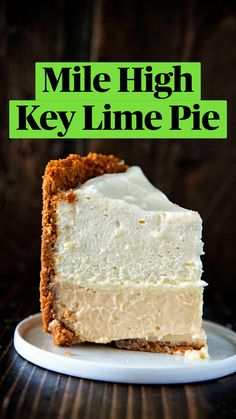 Key Lime Desserts, Just Desserts, Delicious Desserts, Lime Recipes, Sweet Recipes, Pie Dessert, Dessert Recipes, Yummy Treats, Sweet Treats